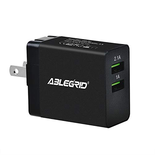 ABLEGRID 5V 1A/2.1A Dual USB Port Power Charger for Bushnell GPS Neo+ #368050#368150