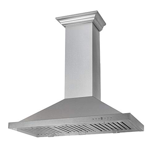 ZLINE 30 in. 760 CFM Designer Series Snow Finished Stainless Steel Wall Mount Range Hood (8KBS-30)