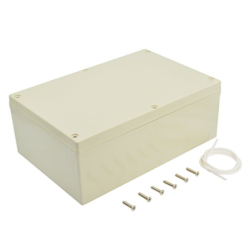 LeMotech Waterproof Dustproof IP65 ABS Plastic Junction Box Universal Electric Project Enclosure Gray 9.4 x 6.3 x 3.5 inch(240 x 160 x 90 mm)