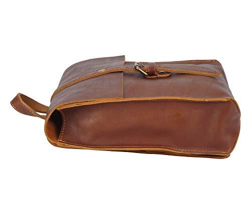 "Yonder Bags Heritage Brown Leather Mini Backpack | 12"" iPad Tablet Backpack | Full Grain Leather Vintage Design"