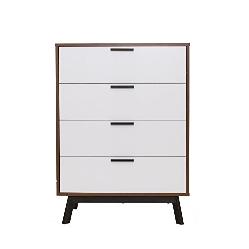 Homestar Austin 4 Drawer Dresser in Vintage Umber with White ()