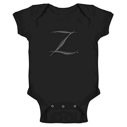 (Pop Threads Zorro Big Cut Z Halloween Costume Black 6M Infant Bodysuit )