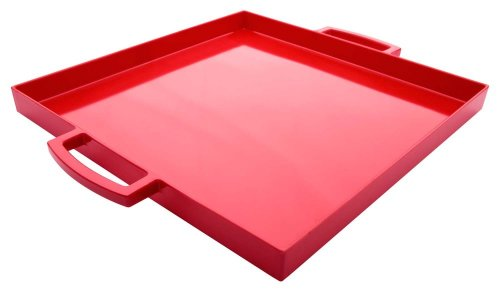 Red Square Platter - Zak Designs Pop Small 12-1/2-Inch Square Tray, Red