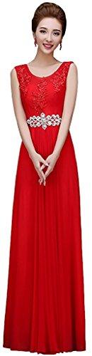 Drasawee Túnica Mujer Para Vestido Rojo 4S45qUr