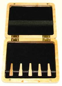 5-Reed Bassoon Reed Case Natural Wood