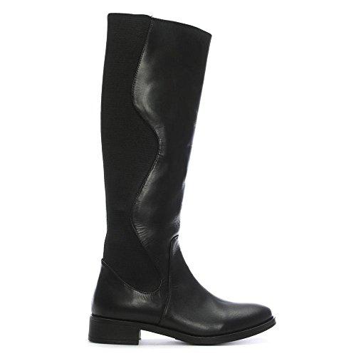 Daniel al nera ginocchio Pelle Peelaw Stivali Pelle estensibili Df nera By posteriori fHwq5wRI