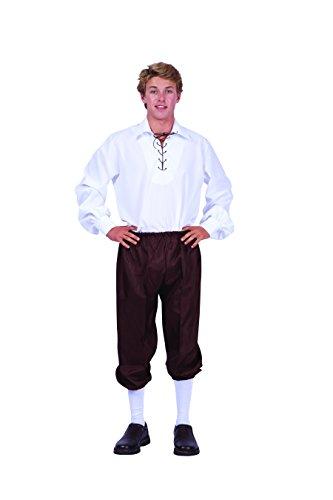 RG Costumes Men's Deluxe Renaissance Shirt, White, Medium -