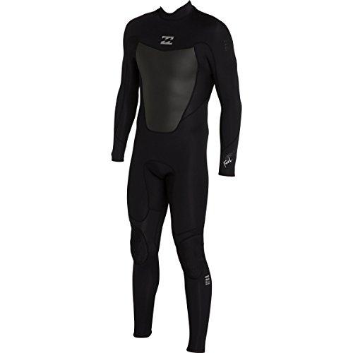 Large Tall Wetsuits - Billabong Men's Foil 3/2 Back Zip Flat Stitch Seam Full Wetsuit, Black, Large/Tall