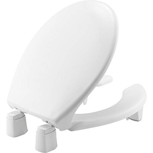 """Bemis Independence 7YR82350TC 000 Closed-Front Elevated/Raised Toilet Seat with 3"""" Lift, Round-Open, White"""
