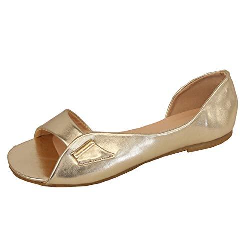 Neuve B7607 Étoile Mode Bout Plates Sandales Ouvert Femmes Décontractées À Chaussures Or Enfiler Bella RqCOAPwCn