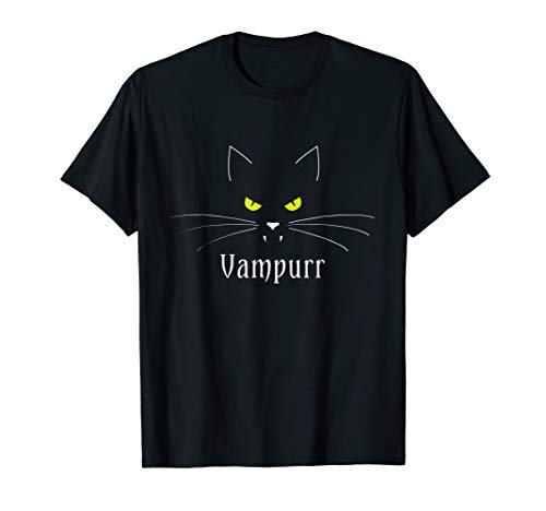 Vampire Cat   Funny Halloween Costume T-Shirt: Vampurr -