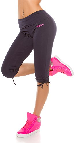 In-Stylefashion Trendy Workout Capri Hosen, Farbe: Navy, Gr: L