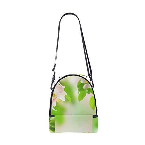 pour déjeuner à Sangle Vert épaule Cooler Motif nique pique fleur réglable double Sac wvB4A