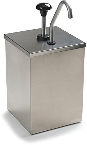 Carlisle 38601 7-1/4-Inch Stainless Steel High Volume Condiment Dispenser with Fixed Nozzle Pump by Carlisle (Image #1)
