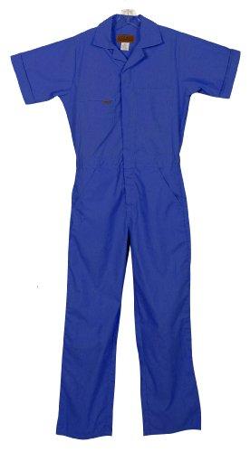 Five Rock Poplin Short Sleeve Unlined Coverall Regular Fit in Blue MD ()