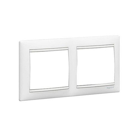 Legrand - 774452 marco 2 elementos horizontal blanco valena Ref. 6561010160