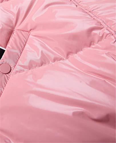 Pato Relleno Cubren Sencillo Mujeres Lustroso z Y Abajo De Piel Grande Elegence Chaqueta Cuello Europa Blanco America Las Se Corto Pink parrafo wTAZqa