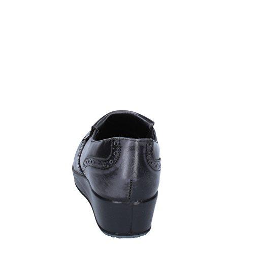 Grigio In Pelle Fondo Gomma Italy pantofola Scarpa 6801 amp;co Donna Igi Frange Mocassino Made zpwEq1zT