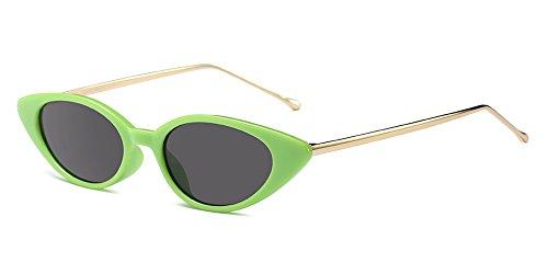 Pequeño de Marco Mujeres BOZEVON 05 de Estilo UV400 Verano Metal Marco sol Gafas protección Vintage qT8pP