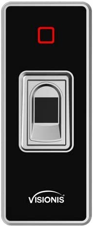 Visionis VIS-3024 Indoor Outdoor Rated IP68 Access Control Standalone Biometric Fingerprint Reader Wiegand 200 Fingerprints and 500 EM Cards, with Capacitive Semiconductor Sensor