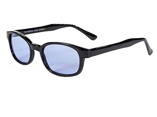 Original X-KD's Biker Blue Lens Black Frames 20% - Sons Sunglasses Anarchy Of