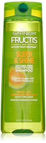 Garnier Fructis Sleek & Shine Shampoo for Frizzy Hair, 12.5 Ounce
