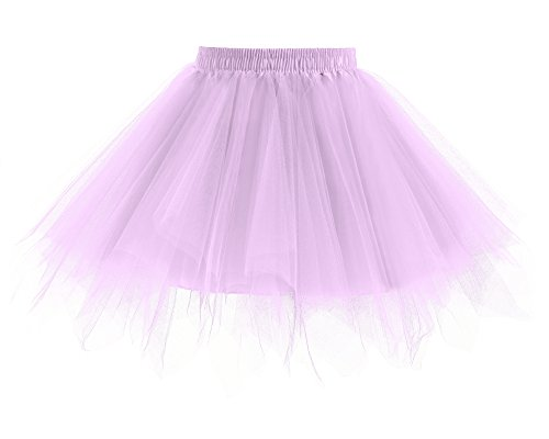 Womens Lilac Fairy Costumes (Yinyyinhs Baby Girls' Classic Dance Tulle Tutu Skirt for Dress Up & Fairy Costume Size M Lilac (2-5 Years))