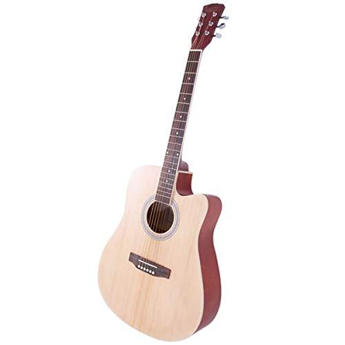 - Glarry GT502 41 inch Spruce Front Cutaway Folk Guitar with Bag & Board & Wrench Tool Burlywood