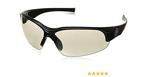 Harley-Davidson Black Brown Pilot Big Lens Motorcycle Sunglasses HD2000