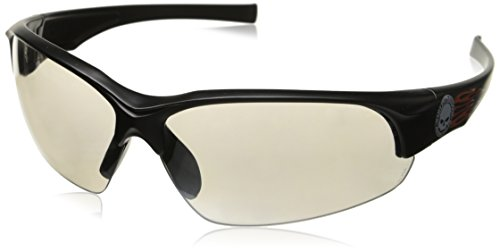 Uvex Harley Davidson Eyewear - Harley Davidson HD1502 Safety Eyewear with   Black Frame, Silver Mirror Lens Tint and Anti-Scratch Hard Coat Lens Coating