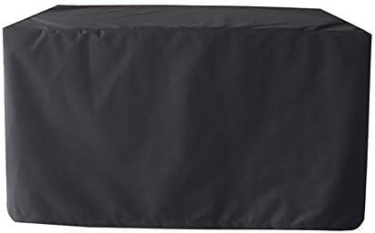 屋外テーブルチェアカバ オックスフォード布屋外用家具カバーガーデン防塵・防水カバーガーデンテーブルと椅子カバー保護カバーヘビーデューティ 保護カバー ガーデン屋外用 (Color : Black, Size : B)