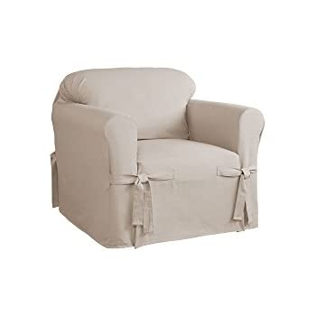 Attrayant Serta Relaxed Fit Duck Furniture Slipcover For Chair, Khaki