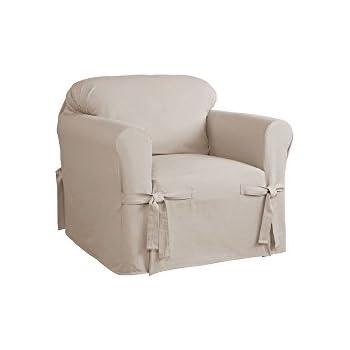 Bon Serta Relaxed Fit Duck Furniture Slipcover For Chair, Khaki
