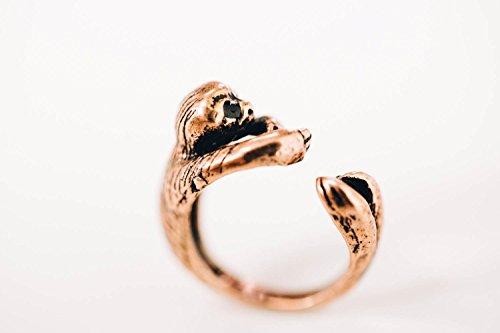 Infinitine Silver Monkey Ring,Sloth Ring,Animal Ring,12R-00064 -
