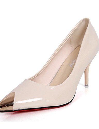 GGX/Damen Heels Frühjahr/Sommer Heels/Komfort PU Casual Stiletto Ferse Metallic Schwarz/Rot/WeißWalking black-us5.5 / eu36 / uk3.5 / cn35