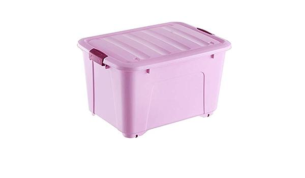 Caja almacenaje Plástico de almacenamiento de gran almacenamiento Box con las poleas 80 litros - 120 litros 59 * 40 * 35 cm (verde) cajas almacenaje plastico (Color : 65*47*38cm , Size : Pink) : Amazon.es: Hogar