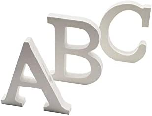 Letras y n/úmeros de madera alfabeto para decoraci/ón 15 cm A Arte infinita
