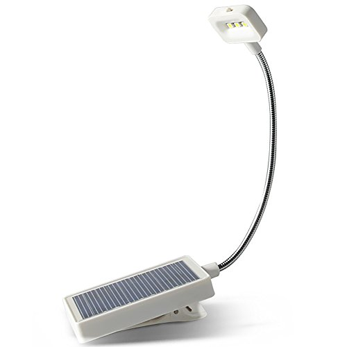 JIAEN LED Solar Book Light Soft Clip for Reading,Crochet,Handicrafts,High Low Light Settings N600 Solar and USB Eco Recharging for Kid by JIAEN