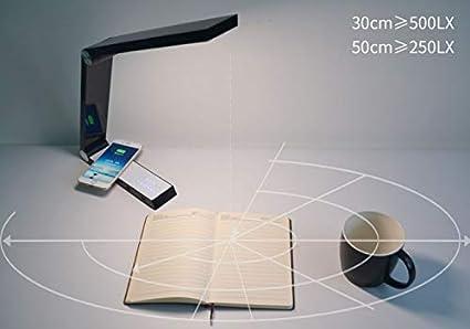 SHELLTB Lámpara de Mesa LED Carga inalámbrica Cargador USB ...