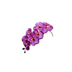 Fashion Home Wedding Decoration Orchid Artificial Flowers Artificial Butterfly Orchid Silk Flower Bouquet,Light Purple 69
