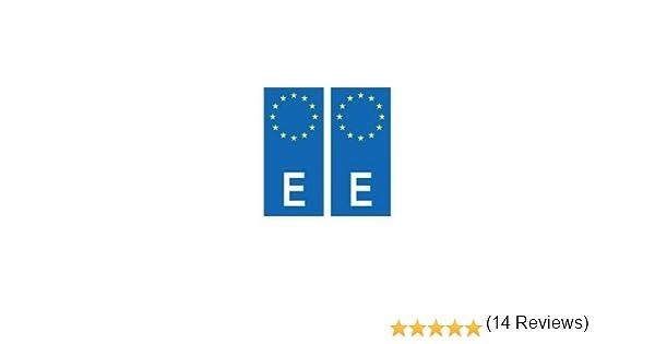 Placa autoadhesiva de matriculación con el distintivo europeo de España: Amazon.es: Coche y moto
