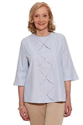 Ovidis Blouse for Women - Blue   Marie   Adaptive Clothing - L