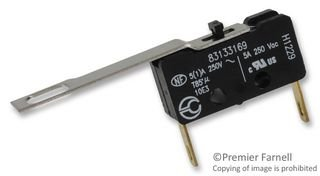 MICRO SWITCH, SPDT, 5A, 250V 83133169 By CROUZET SWITCH TECHNOLOGIES 83133169-CROUZET SWITCH TECHNOLOGIES