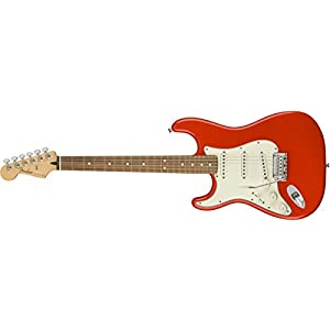 Player Stratocaster Lefthand PF Sonic Red
