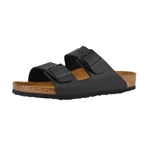 Birkenstock Children's Arizona 2-Strap Cork Footbed Sandal - Narrow Black 34 N -