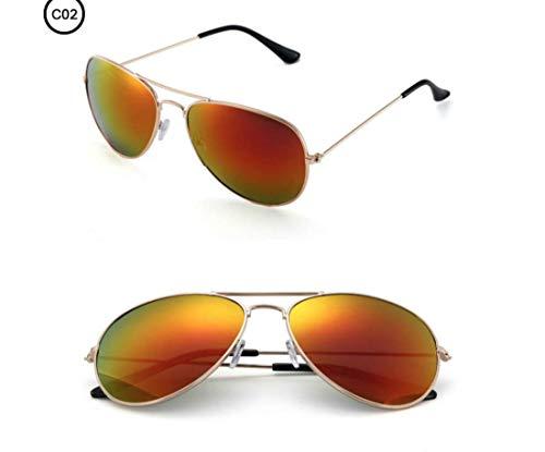 Gafas Sol Espejo Unisex Gradiente 100 Gafas Polarizadas Naranja Aviador Polarizadas UV400 Aviador De Piloto de con Fotocromático Sol Buena protección Calidad 4r5Eqw4