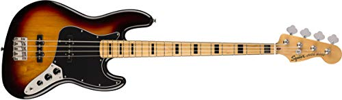 Squier by Fender Classic Vibe 70's Jazz Bass Guitar - Maple - 3-Color Sunburst Bass Guitar 3 Color Sunburst