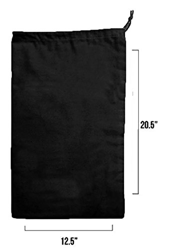 Earthwise Boot Shoe Bag 100% Cotton MADE IN THE USA in Black with Drawstring for storing and protecting boots (Pack of 2) by Earthwise (Image #2)