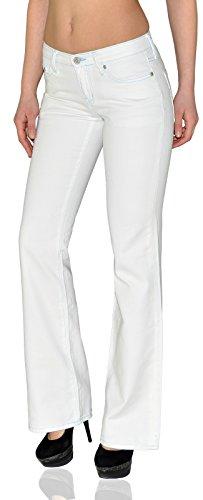Jean femme bootcut Jean pour femmes pantalon en jean femme blanc J156 Typ-J156