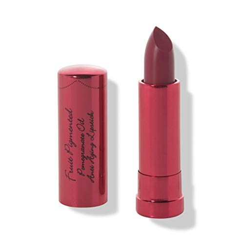 100% PURE Pomegranate Oil Anti-Aging Lipstick (Fruit Pigmented), Calypso, Long Lasting, Satin Finish, Vibrant Color, Moisturizing Cocoa Butter (Berry Red) - 0.15 oz